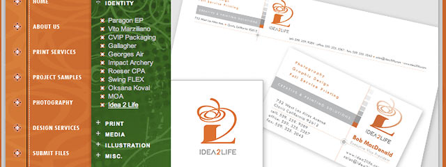 Idea 2 Life - logo, letterhead, envelope design